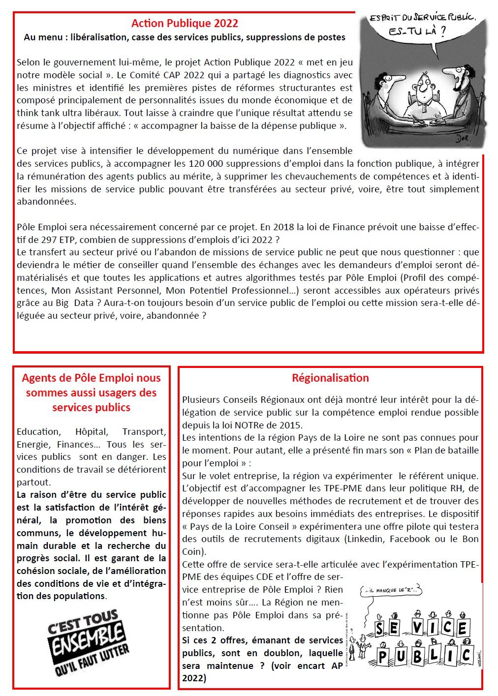 Pole Emploi A L Avant Garde De La Casse Des Services Publics Cgt